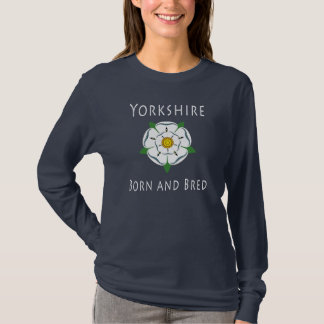 Ladies Yorkshire Born & Bred Long Sleeved Tee