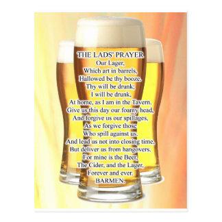 Lads Prayer Postcard