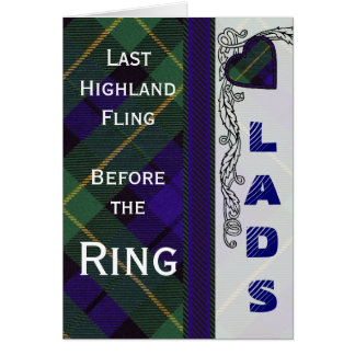 Lads Stag night -  Armstrong Scottish Tartan Card