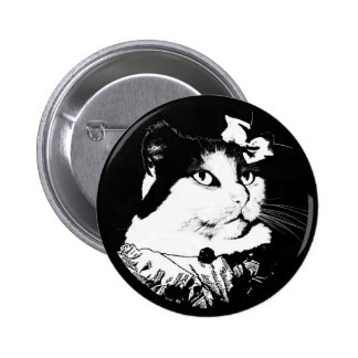 Lady Abigail Cat Button