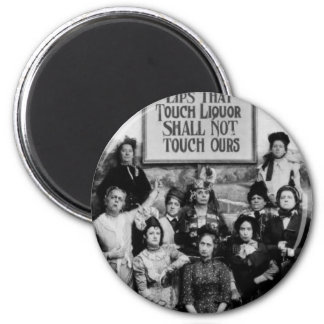Lady Abstainers 6 Cm Round Magnet