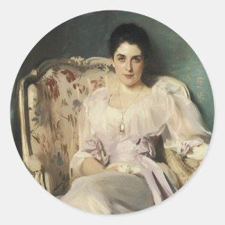 Lady Agnew of  Lochnaw Classic Round Sticker