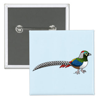 Lady Amherst's Pheasant 15 Cm Square Badge