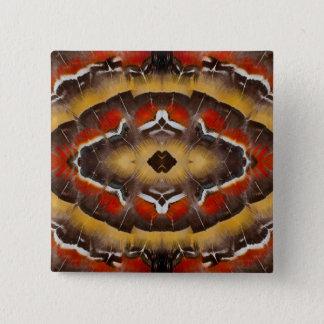 Lady Amherst's Pheasant Feather Design 15 Cm Square Badge