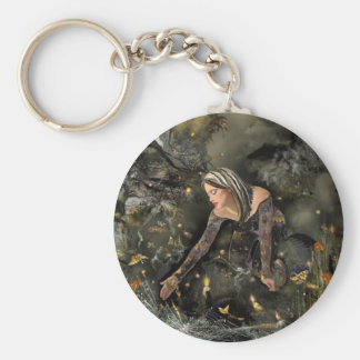 Lady and  Butterflies! Key Ring