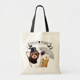 """""""Lady and Gentleman"""" ferret Budget Tote Bag"""