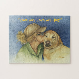 Lady and Golden Lab Puzzle