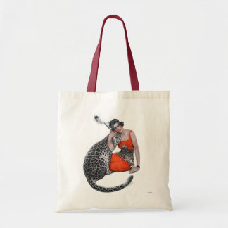 Lady and Leopard Budget Tote Bag