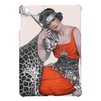 Lady and Leopard Cover For The iPad Mini