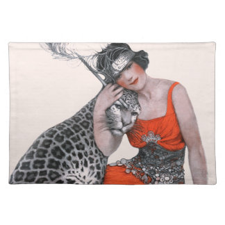 Lady and Leopard Placemat