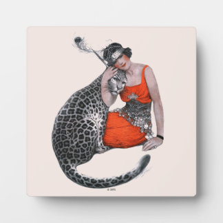 Lady and Leopard Plaque