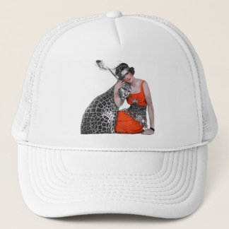 Lady and Leopard Trucker Hat