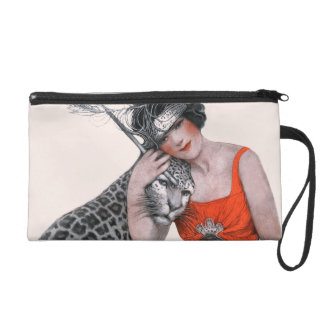 Lady and Leopard Wristlet