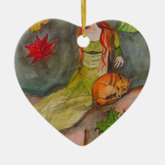 Lady and The Fox Christmas Ornament
