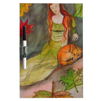 Lady and The Fox Dry Erase White Board