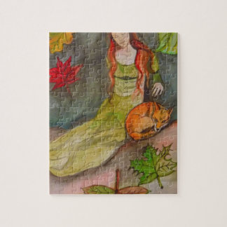 Lady and The Fox Jigsaw Puzzle