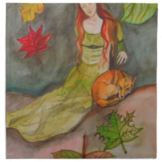 Lady and The Fox Napkin