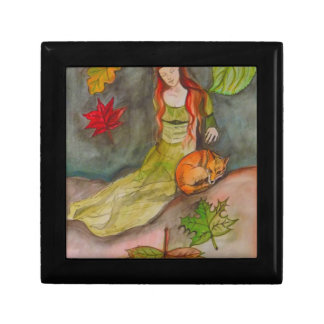 Lady and The Fox Small Square Gift Box