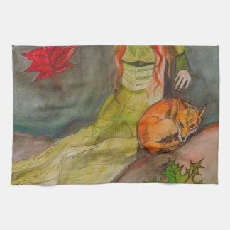Lady and The Fox Tea Towel