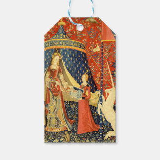 Lady and the Unicorn Medieval Tapestry Art Gift Tags