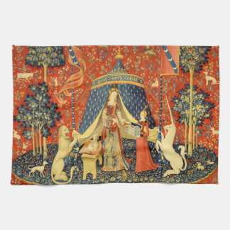 Lady and the Unicorn Medieval Tapestry Art Tea Towel