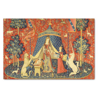 Lady and the Unicorn Medieval Tapestry Art Tissue Paper