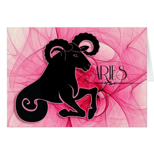 Lady Aries Zodiac Blank with Inside Art Card
