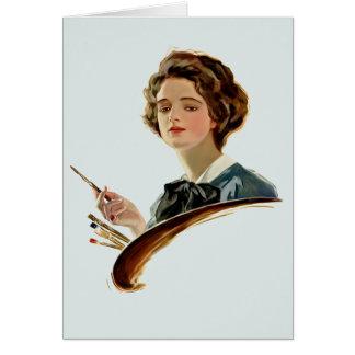 Lady Artist Card