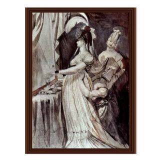 Lady At The Dressing Table By Johann Heinrich Füss Postcard