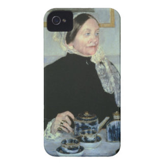 Lady at the Tea Table, 1885 (oil on canvas) iPhone 4 Case