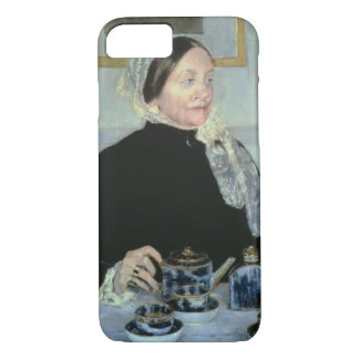 Lady at the Tea Table, 1885 (oil on canvas) iPhone 8/7 Case