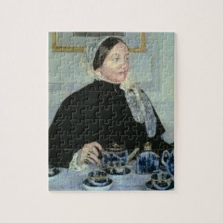 Lady at the Tea Table, 1885 (oil on canvas) Puzzles