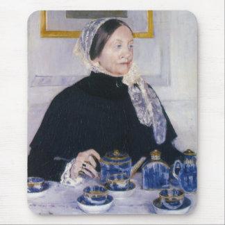 Lady at the Tea Table Mary Cassatt Mousepad