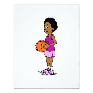 Lady Basketball Player Custom Invitations