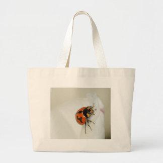 Lady Beetle Climbing High Jumbo Tote Bag