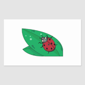 Lady Beetle Rectangle Sticker