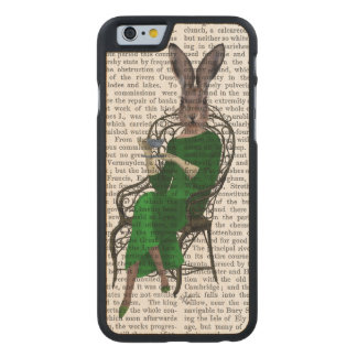 Lady Bella Rabbit Taking Tea 2 Carved® Maple iPhone 6 Case