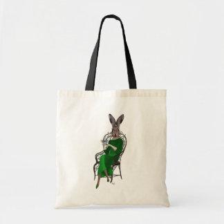 Lady Bella Rabbit Taking Tea 2 Tote Bag