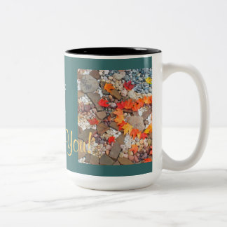 Lady Boss Mug Gifts Thank You Heart Leaves Rocks