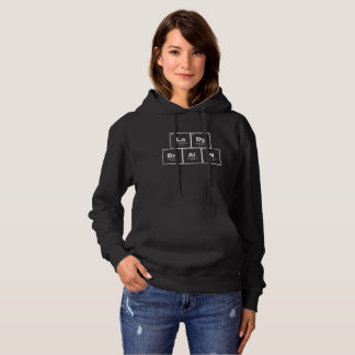 """Lady Brain"" periodic table elements nerdy hoodie"