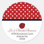 Lady Bug Address Stickers