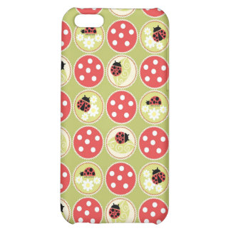 Lady Bug and Toadstool Print iPhone 5C Case