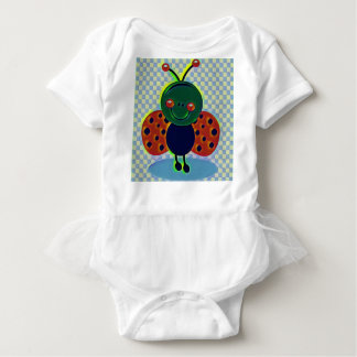 Lady bug baby bodysuit