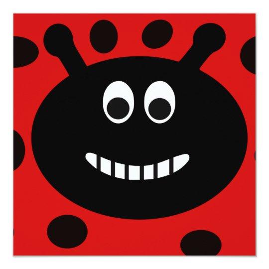 Lady Bug Childrens Birthday Party Invitations