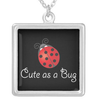Lady Bug - Cute as a Bug Silver Plated Necklace