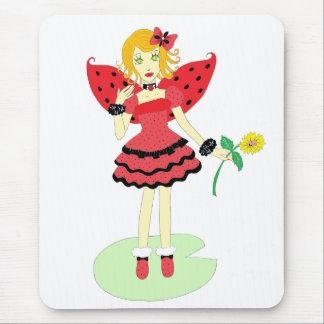 Lady Bug Fairy Mouse Pad
