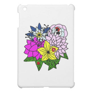 Lady Bug Flower Bouquet Case For The iPad Mini