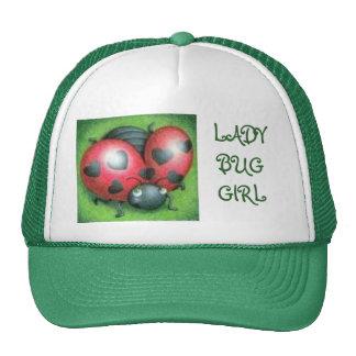 LADY BUG GIRL GREEN CAP