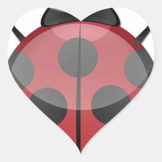 Lady Bug Heart Sticker