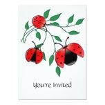 Lady Bug, Lady Bugs 13 Cm X 18 Cm Invitation Card